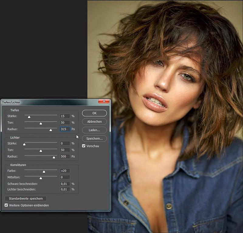 Photoshop dunkle Bereiche aufhellen, Filter Tiefen Lichter, photoshop überbelichtung korrigieren, photoshop tiefen und lichter, photoshop tutorials, 05 - Kopie